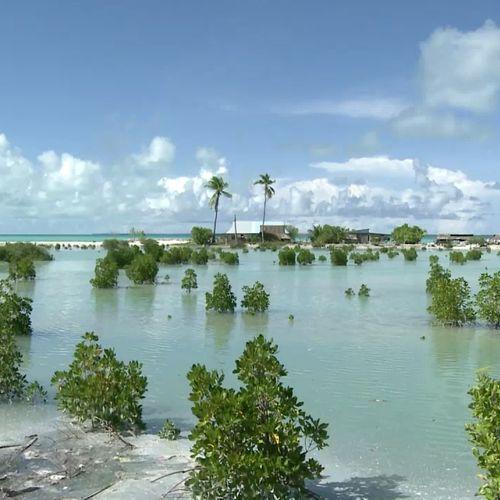 Afbeelding van Gevolgen zeespiegelstijging Kiribati