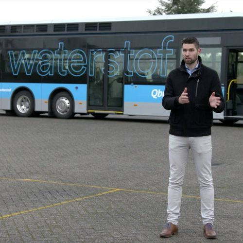 Afbeelding van Groningse lijnbus rijdt op Groene waterstof
